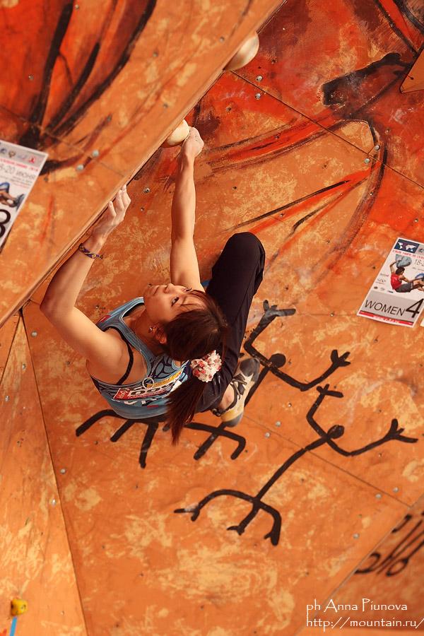 Japanese climber Akiyo Noguchi at the Moscow WC, 179 kb