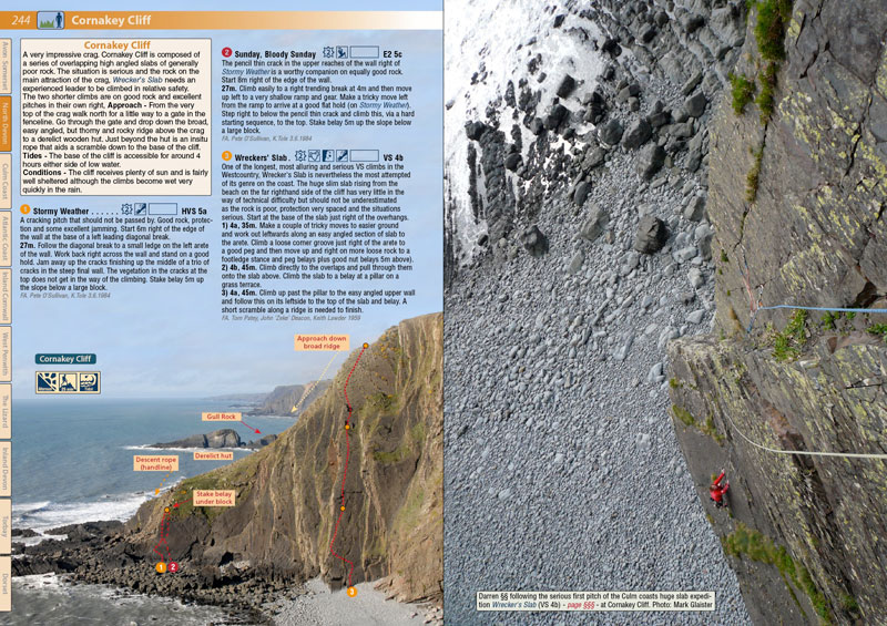 West Country Climbs Rockfax Guidebook - example page 2, 177 kb