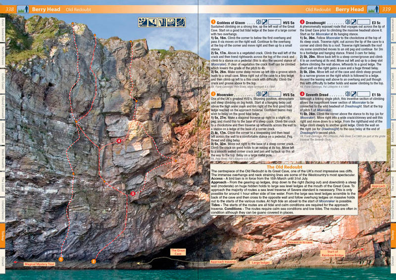West Country Climbs Rockfax Guidebook - example page 3, 176 kb