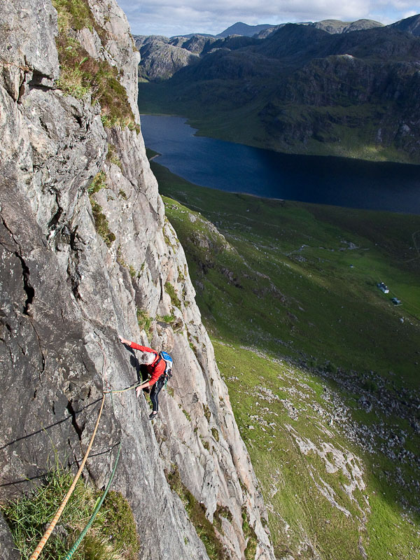 Fionn Buttress, pitch three, 193 kb