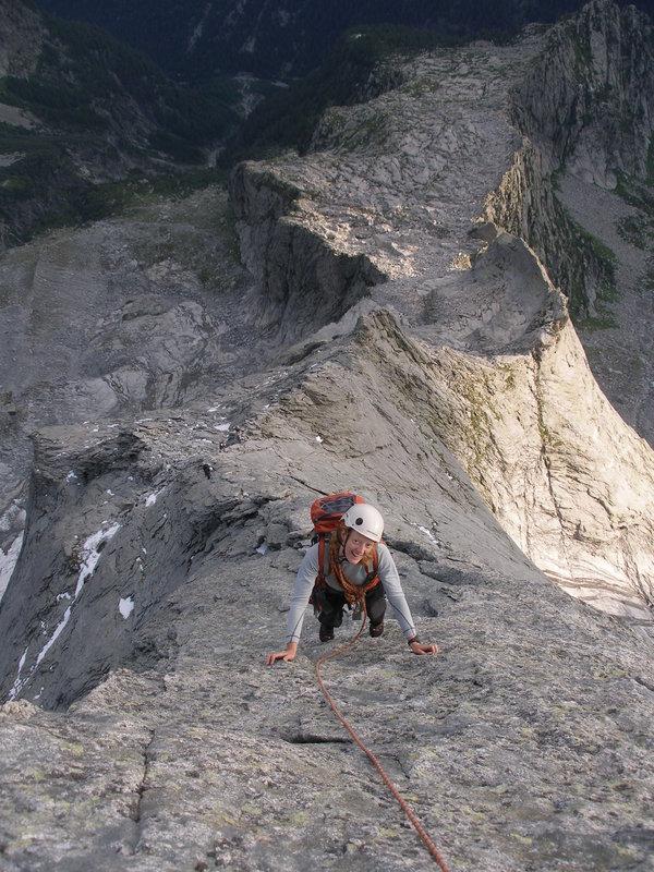N Ridge of Piz Badile, 144 kb