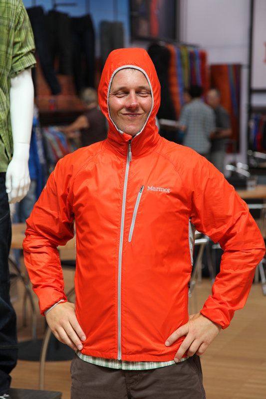 Ed shows off the new Marmot Ether Driclime Jacket, 78 kb