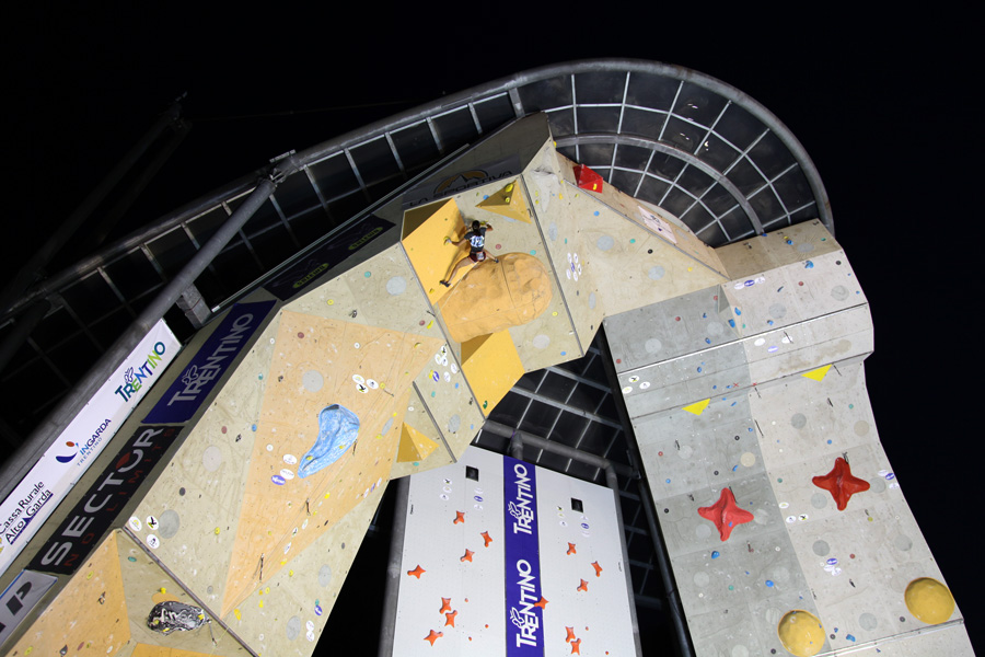 French climber Alizée Dufraisse competing in the women's finals at Arco 2010. , 191 kb