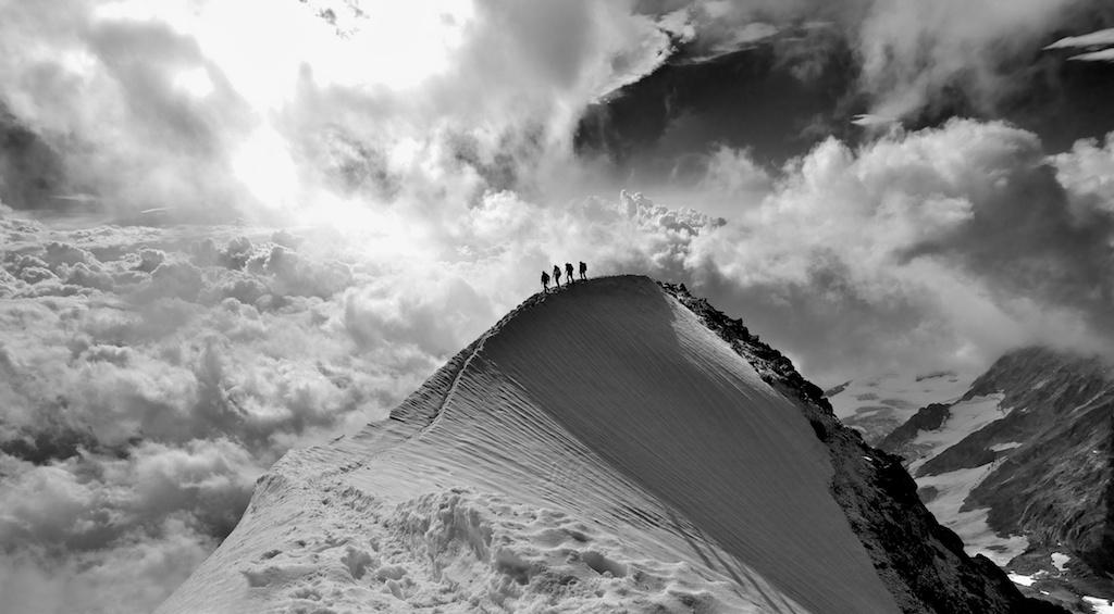Weissmies Summit Arete, 160 kb