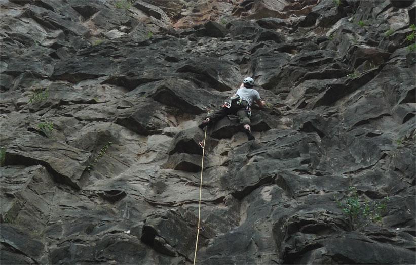 Sport climbing at Llanmynech, 116 kb