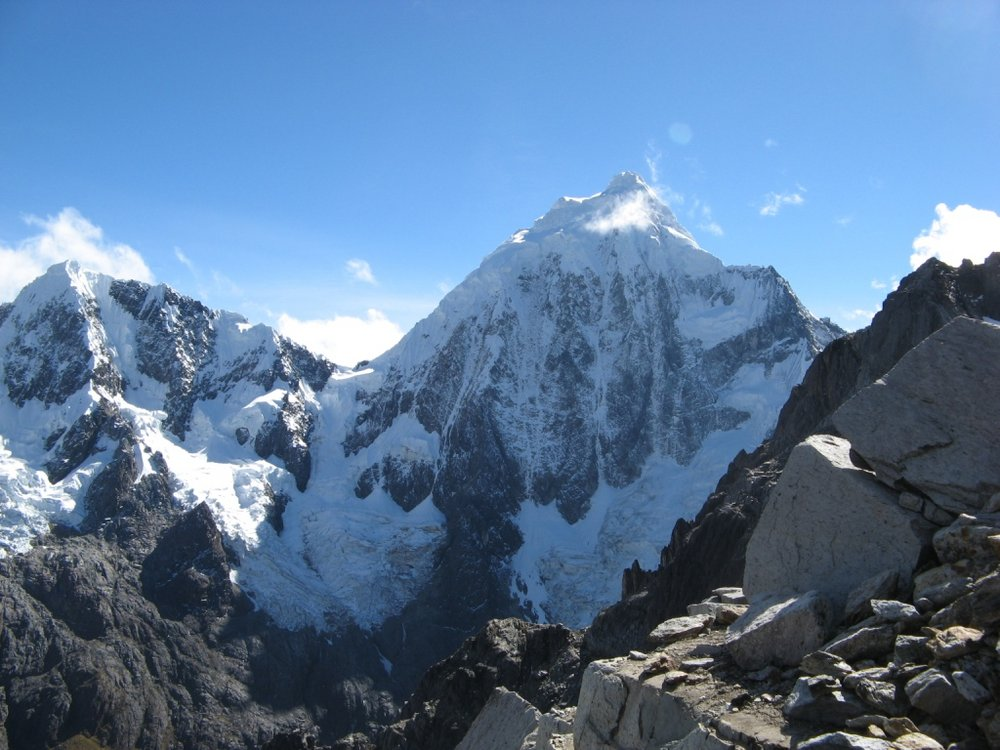 A view of Huaguruncho from the acclimatisation peak, 125 kb