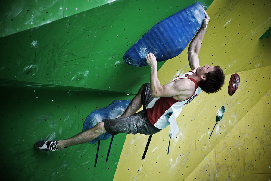 Stew Watson competing in the Arco Rockmaster 2010, 155 kb