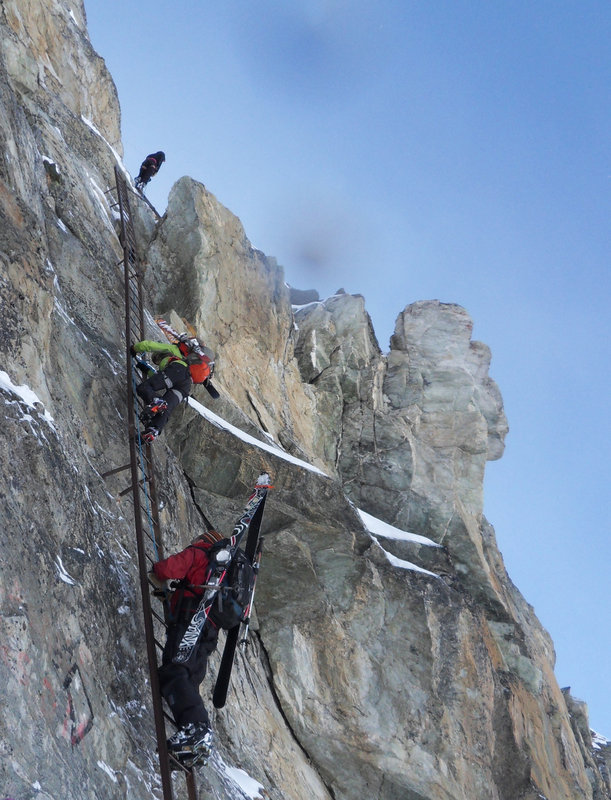 The Pas de Chevres Ladders on the Haute Route, 127 kb