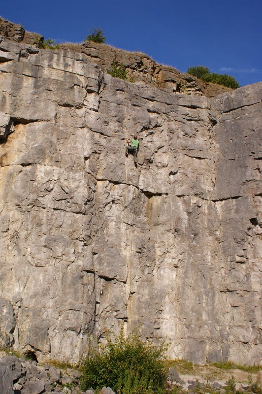 Climbing in the Bandit at Horseshoe Quarry, 119 kb