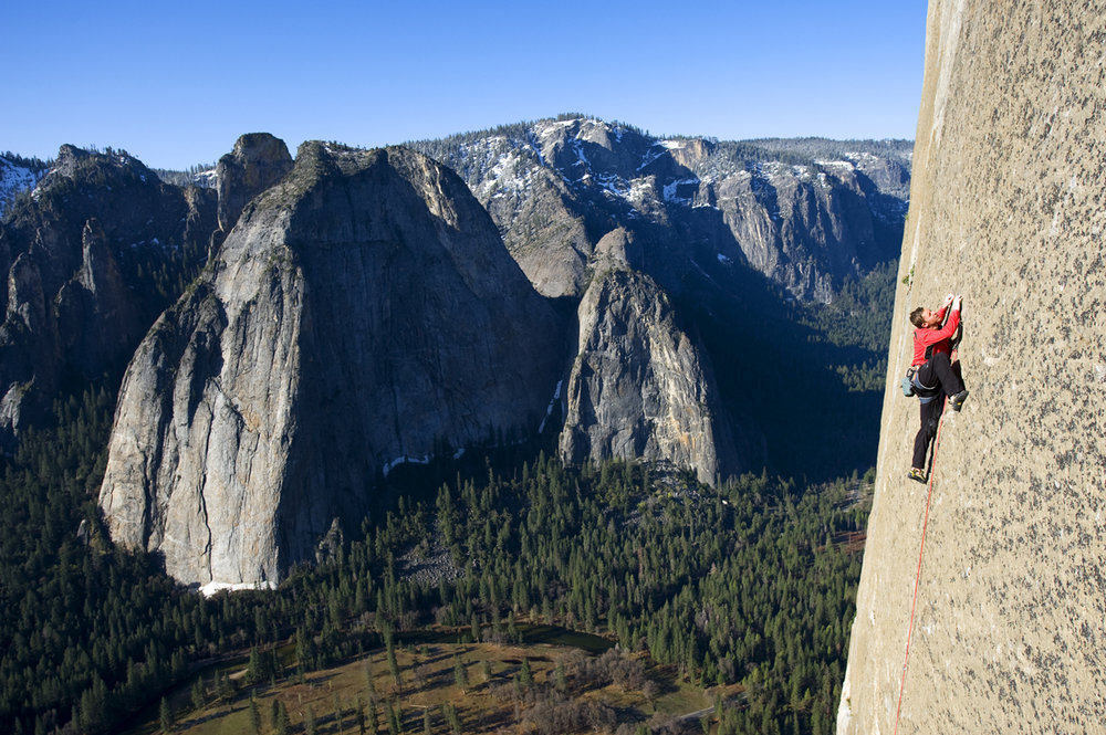 Image from the film PROGRESSION. Tommy Caldwell attempting to free his project on El Capitan, in Yosemite, CA. , 207 kb
