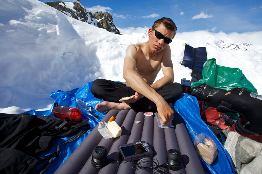 Will Sim enjoying a sunny day in Alaska, 145 kb