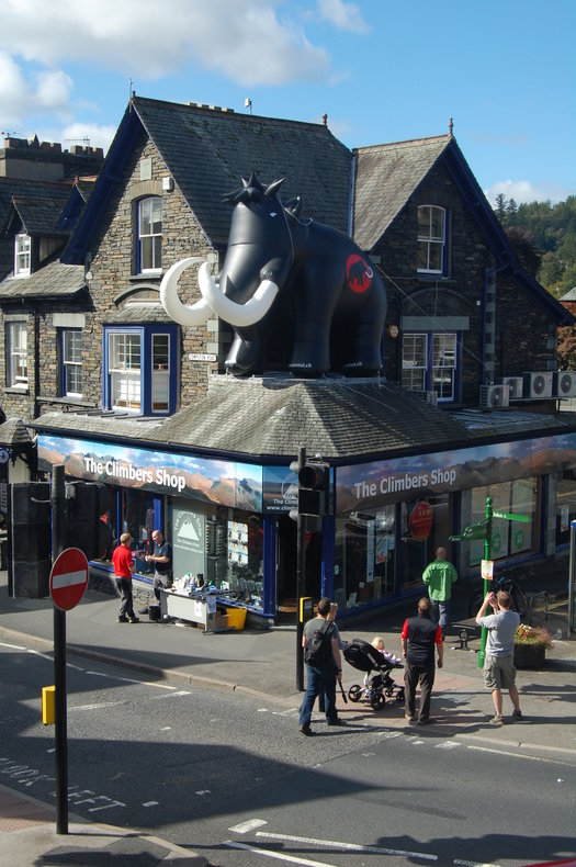 Giant Inflatable Mammoth hits shop in Ambleside, Lectures, market research, commercial notices Premier Post, 1 weeks @ GBP 25pw, 137 kb