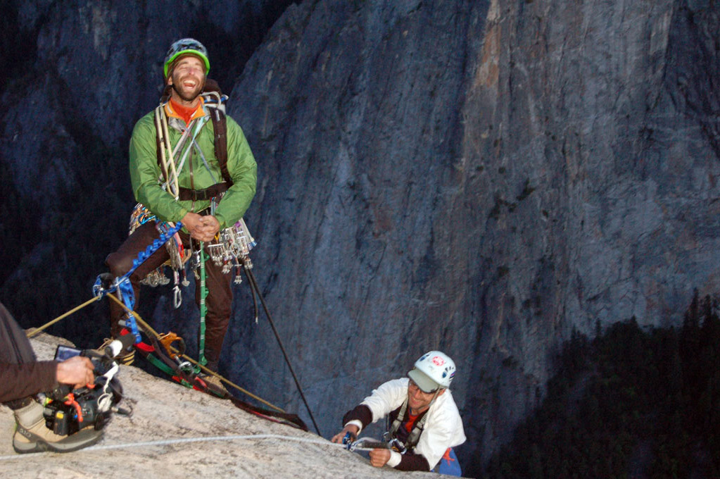 Timmy O'Neil and his brother Sean, who is a T-12 paraplegic, summiting El Capitan, 211 kb