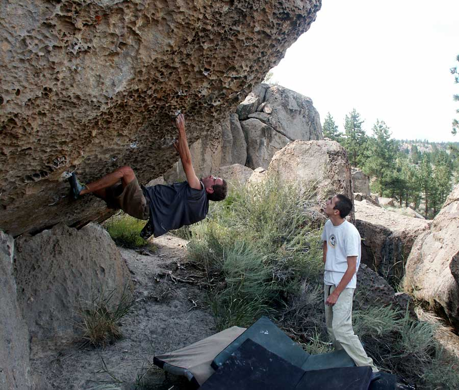 Rich McDade on Everything and Nothing V5, expertly spotted by Josh Harrington, Pocketopia, The Sherwin Plateau., 113 kb