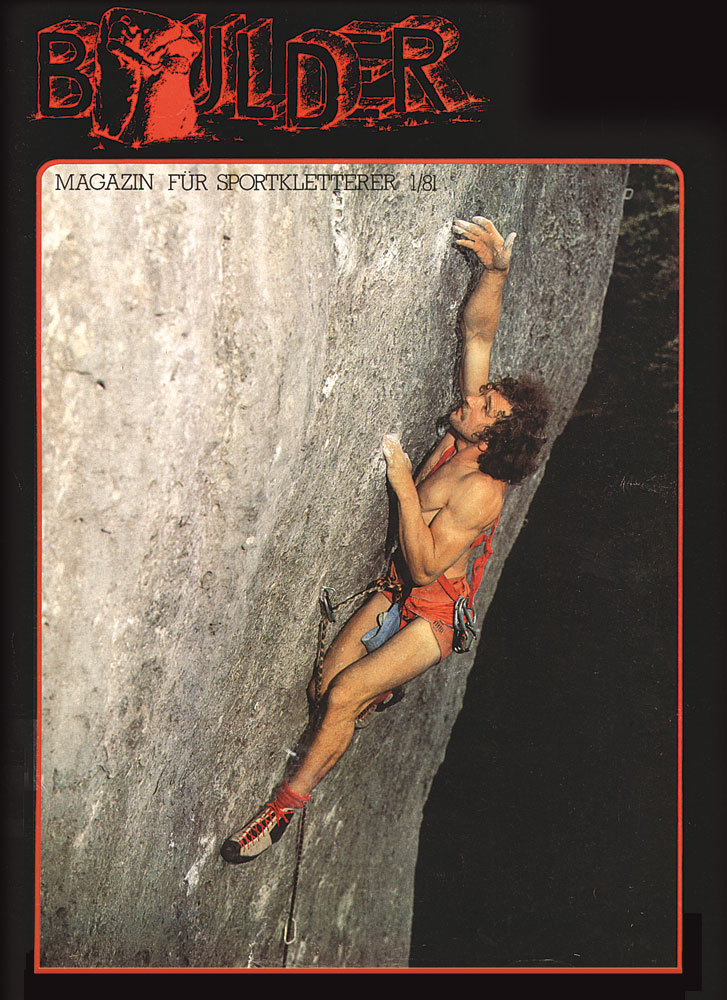 Kurt Albert gracing the cover of Boulder Magazine - the legendary magazine had only 3 issues, 200 kb