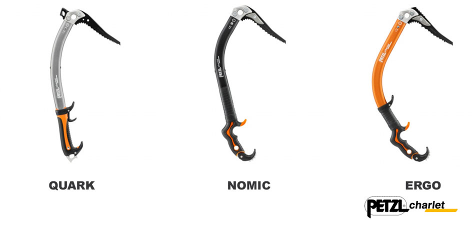 The new line of Petzl Charlet ice axes, 27 kb