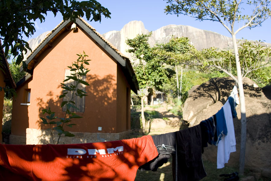 The bungalows of Camp Catta are within easy reach of the crags, 174 kb