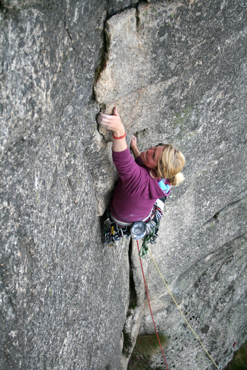 Joan Mulloy on Overdue E2, 5c Lower Cove, 146 kb