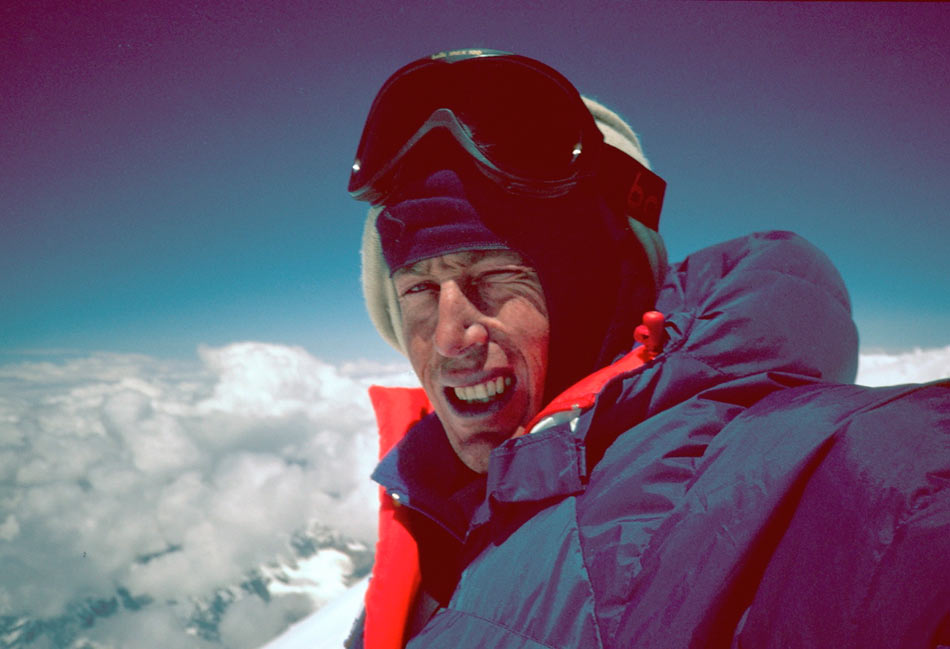 Tim Macartney-Snape on the summit of Everest in 1990, 74 kb