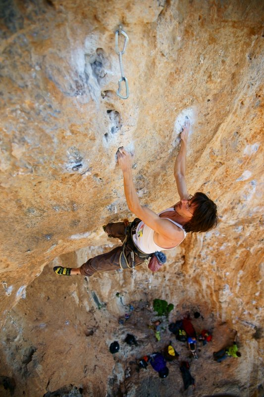 A Czech climber attempts to redpoint Daniboy 8a, 99 kb