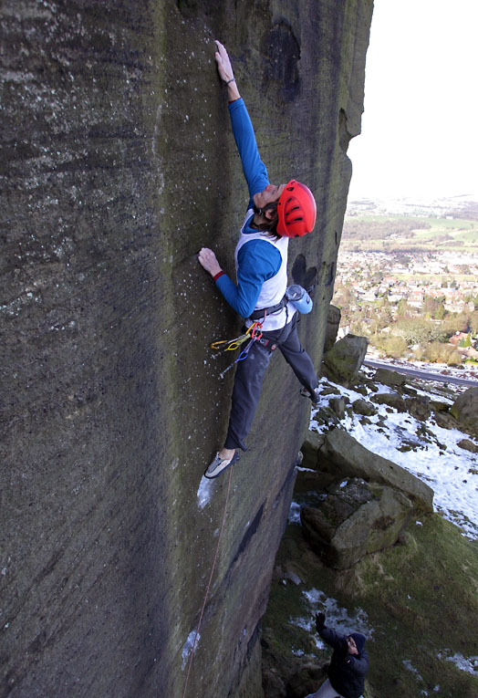 The route is exactly James' style - hard and fingery and super-technical., 131 kb