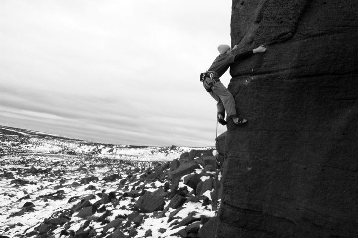 Technical but not pumpy gritstone is a style at which James has excelled., 93 kb