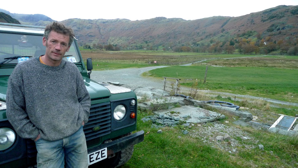Dave Birkett at Baysbrown Farm, Langdale, 128 kb
