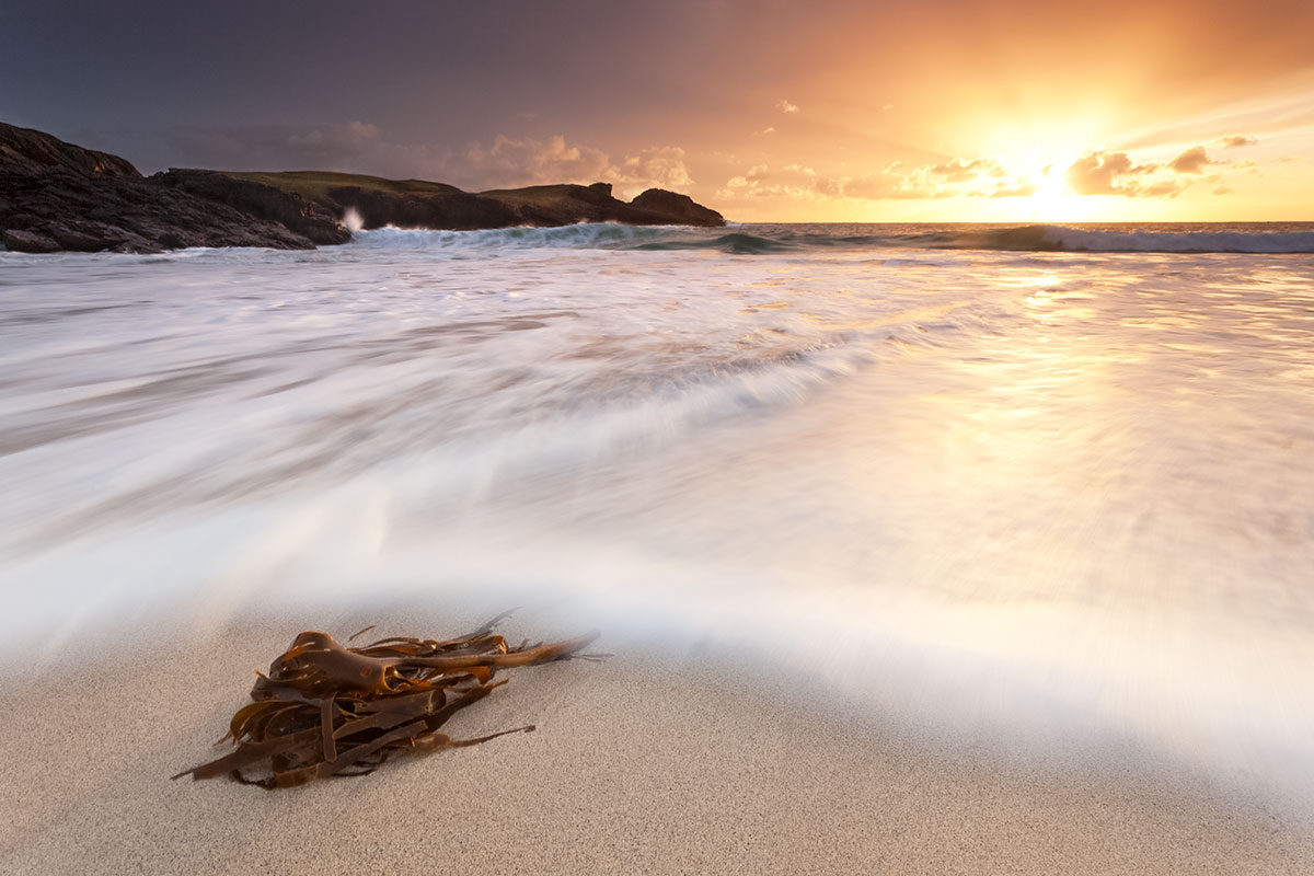 Sunset over Clachtoll Bay North West Highlands of Scotland, 146 kb