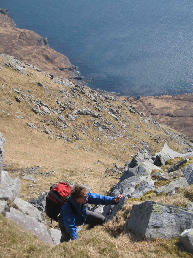 Scrambling near the top of Sgurr nan Gillean ., 150 kb