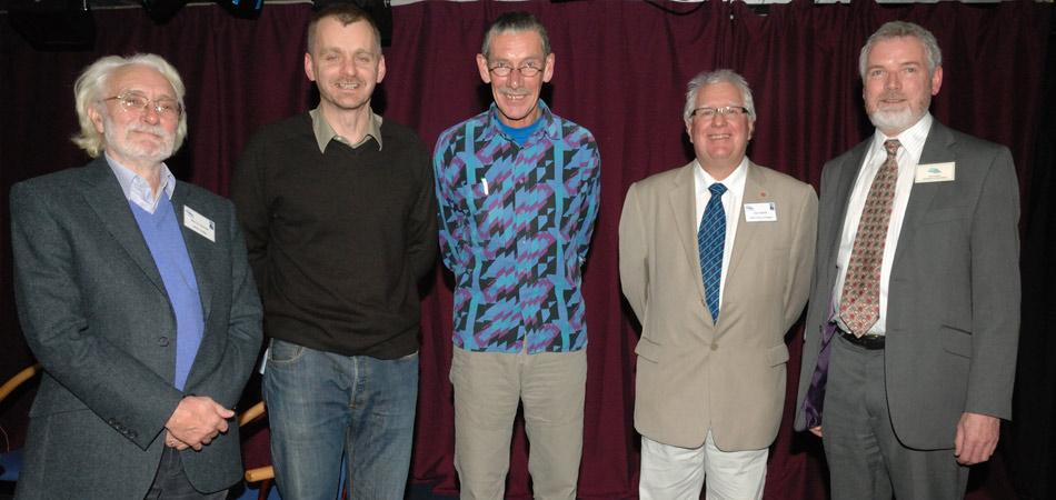 Barry Imeson (Judge), Ed Douglas, Ron Fawcett, Ian Smith (Chair of Judges), Paul Tasker (Boardman Tasker Chairman), 105 kb