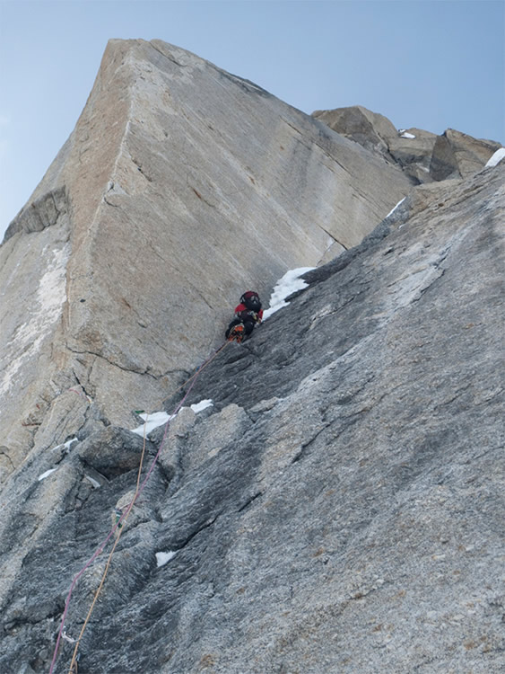 The Prow on the Moonflower Buttress, 145 kb