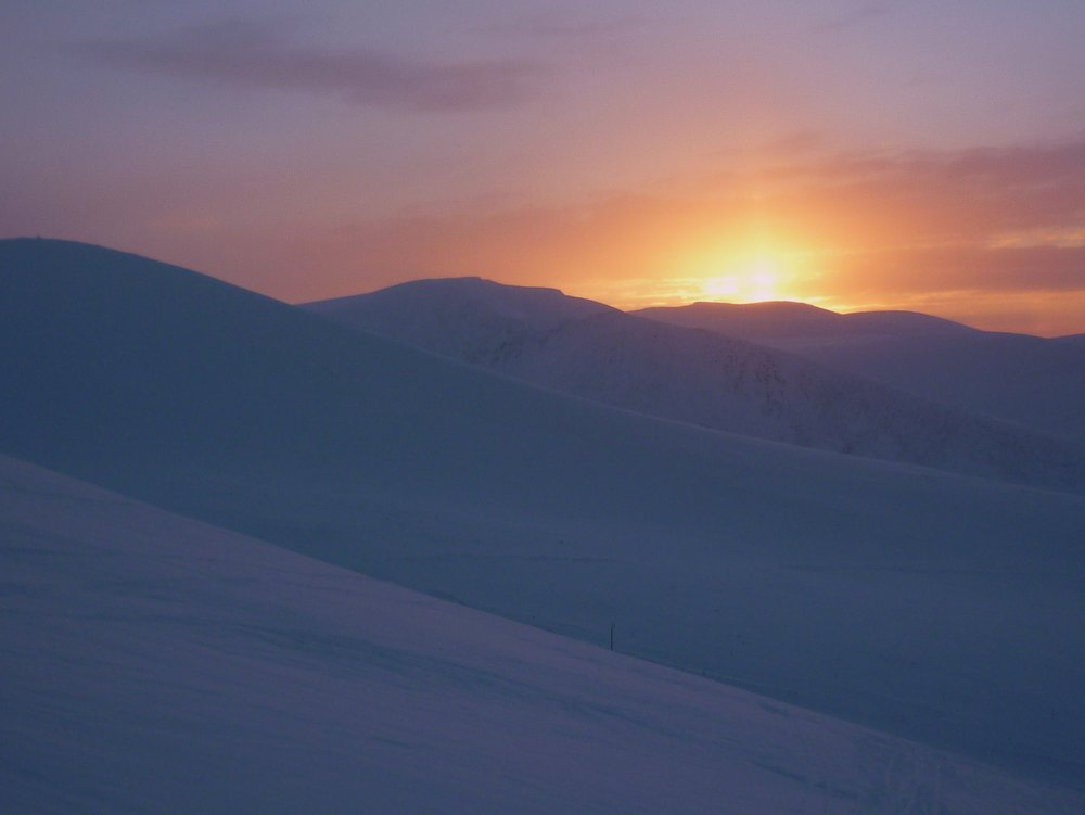 Sunset in the Northern Corries , 55 kb