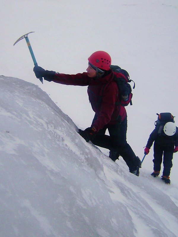 Crampon coaching on ice: winter skills, 85 kb