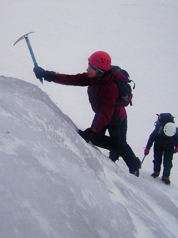 Crampon coaching on ice: winter skills, 85 kb