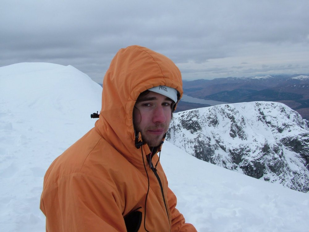 Dom looking particularly drained on the summit. He was very happy honest., 89 kb