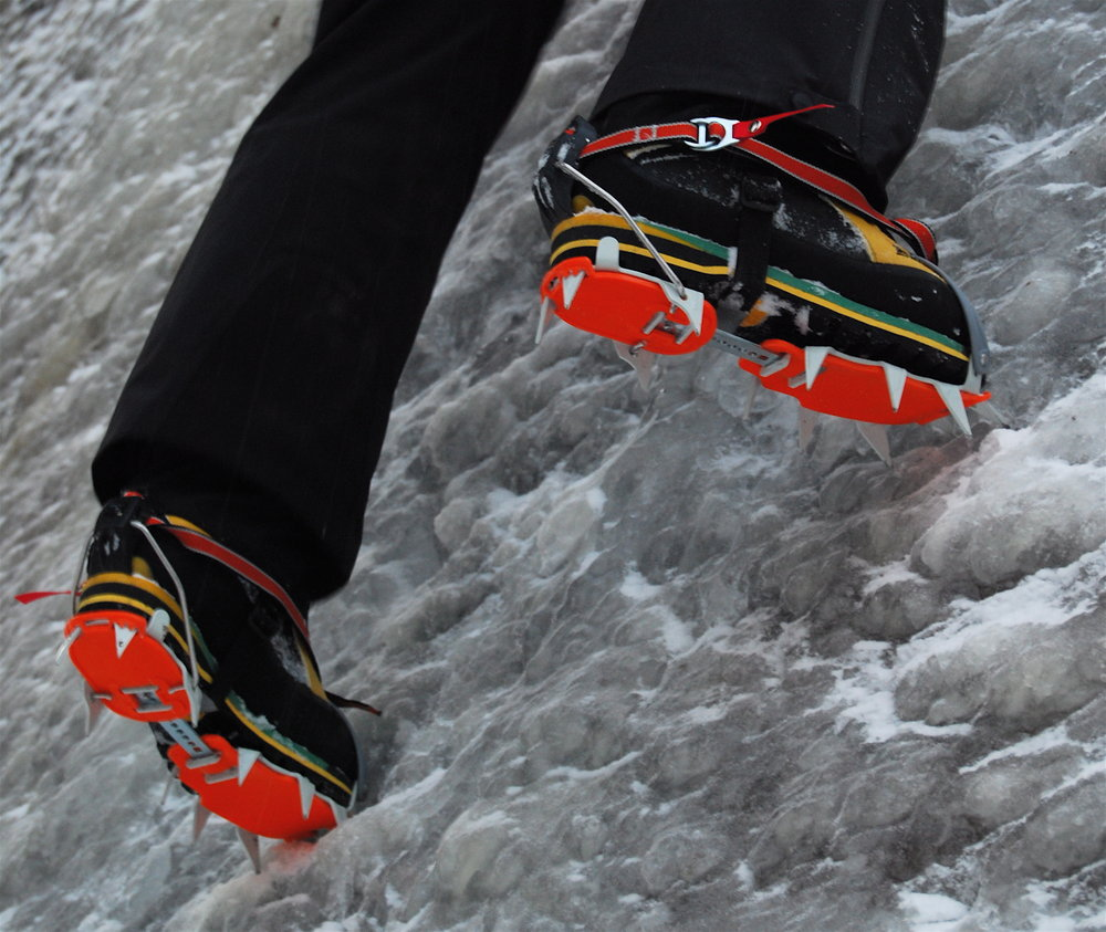 The CT Nuptses on smallish La Sportiva Trango Extremes., 150 kb