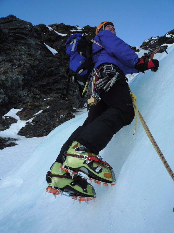 The same CT Nuptses on huge Scarpa ski touring boots., 85 kb