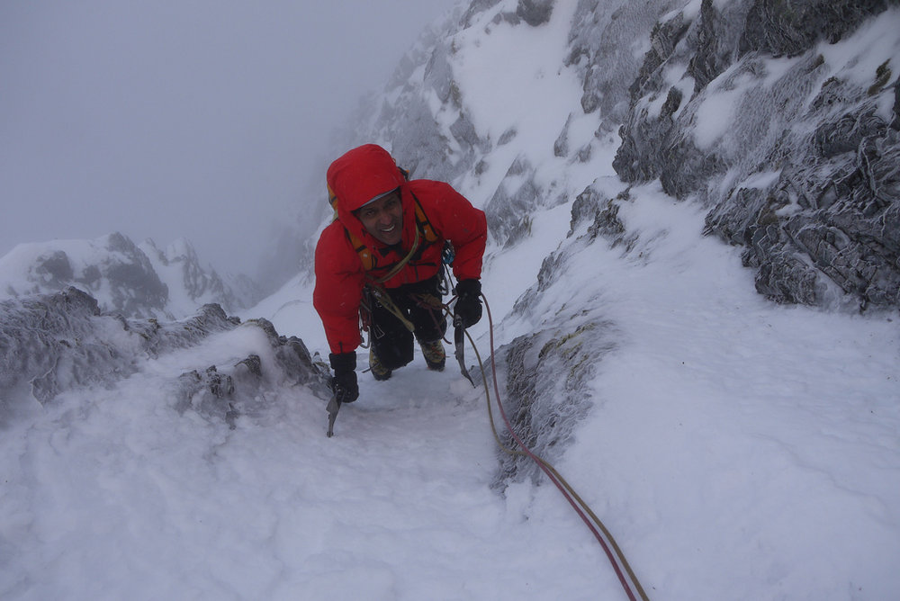 High in Green Gully Ben Nevis, 100 kb