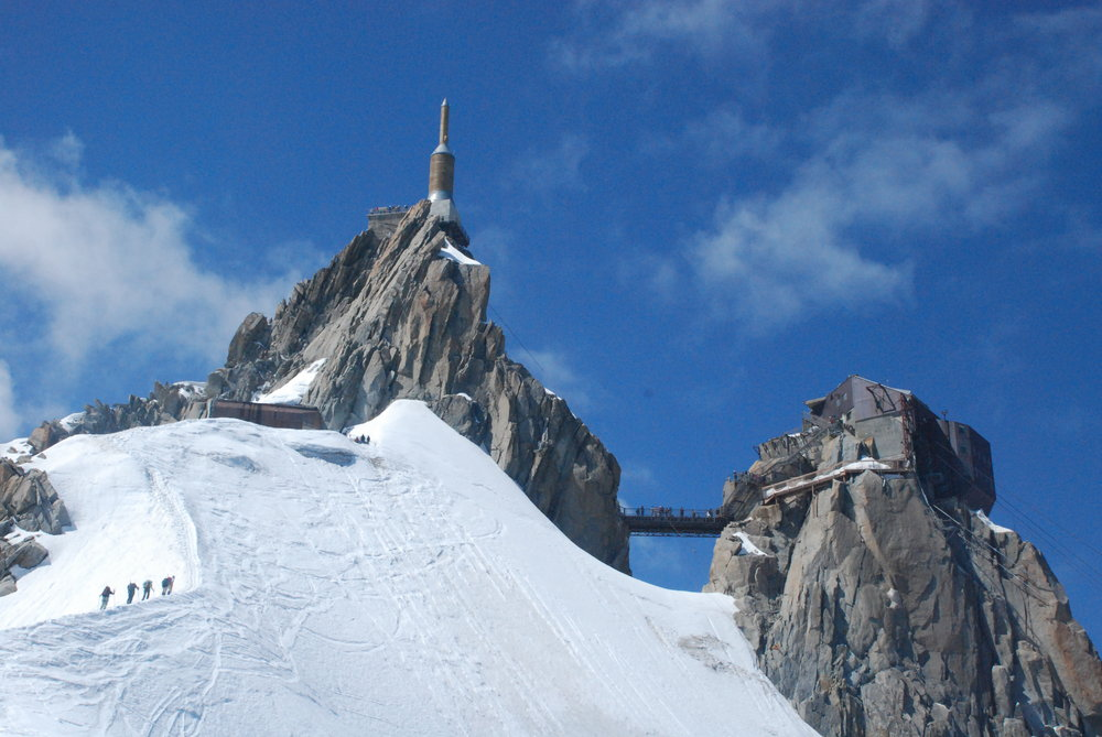 Climbers heading to Aiguille du Midi, 146 kb