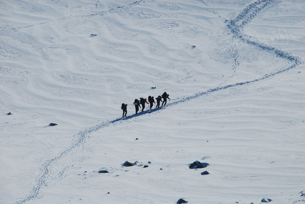 Heading towards Grand Culoir, Mt Blanc, 137 kb