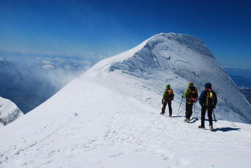Descending from Mt Blanc, 121 kb