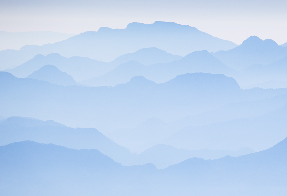 The winning image of the World View category: Misty Dawn in Slovenia - Taken from the Summit of Triglav, 103 kb