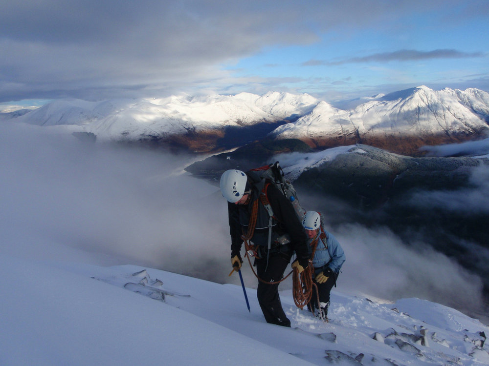 The right colours in the Highlands, Aonach Mor, 110 kb