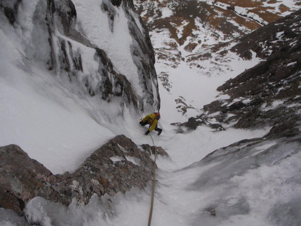 High on good ice, Zero Gully, Ben Nevis, 148 kb