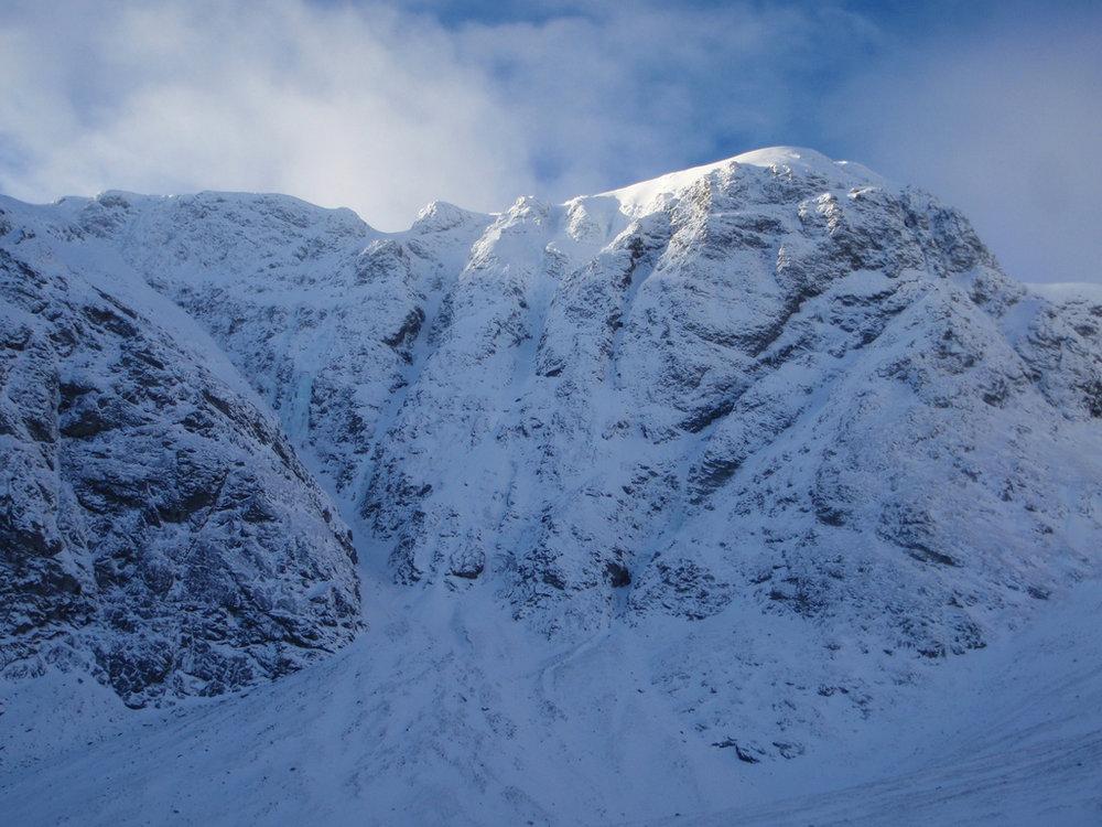 The imposing crags of Creag Megaidh, 168 kb