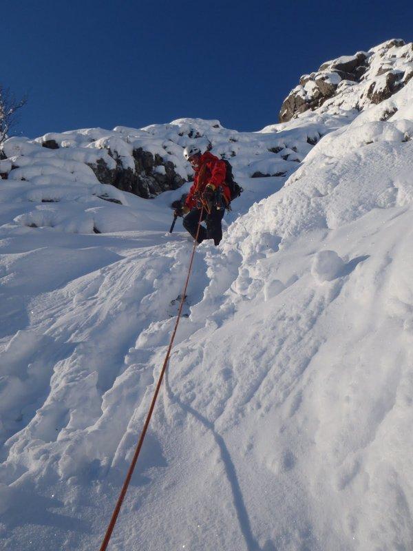 Enjoying an alpine feel on the Zig Zags, Glen Coe, 75 kb