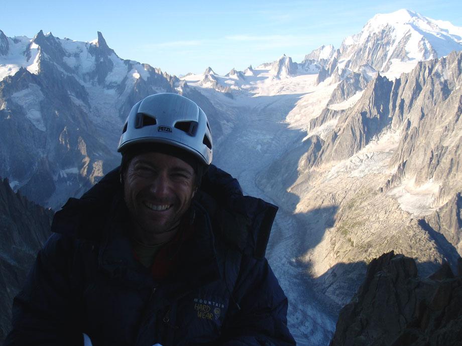 Nic near the summit of the Petit Dru.  , 132 kb