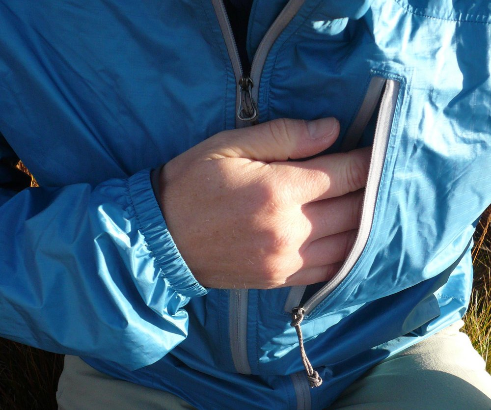 Pocket detail on the Helium Jacket, 157 kb