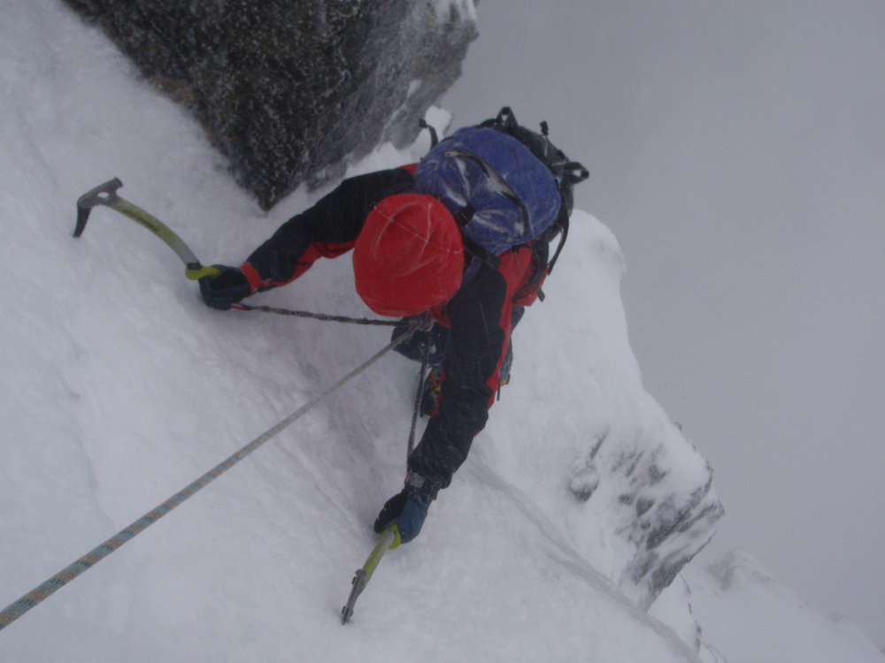 Good neve on Number 3 Gully Buttress, Ben Nevis, 88 kb