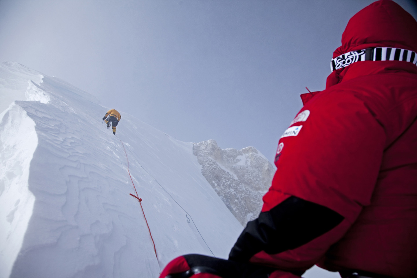 Heading to the summit of Gasherbrum II in winter, 170 kb